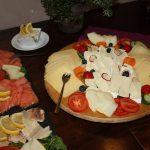 Käse- und Lachsplatte